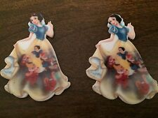 2x Snow White and the Seven Dwarfs Princess Flat Back Planar Resin Embellishment