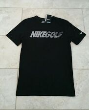 New Nike Golf Dri Fit  Mens Graphic Black Graphic T Shirt Tee Top Size: Small