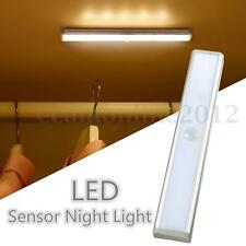 10 LED Inalámbrico PIR Sensor de Movimiento Luz Nocturna Lámpara Pared Armario
