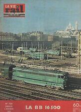 la vie du rail N°720 du 8 novembre 1959 la BB 16500
