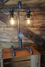 Edison Age Industrial Lamp, Steampunk Table Lamp, vintage ,antique, Bulb cages