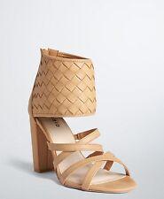 NIB Torrid Tan Woven Block Heels Wide Width Size 12W Sandles Open Toe (Shoes 1)