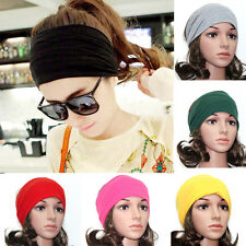 Hot Womens Girls Wide headband Stretch Elastic Yoga Turban Hairband Hair Band