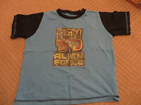 boys boy t-shirt tshirt top aged 6-7 years short sleeved turquoise ben 10 ten