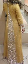 sari salwar kameez gown wedding diamante crystal rhinestone dress sparkly bling