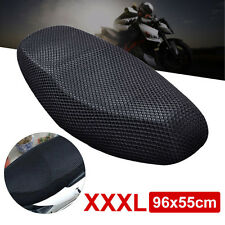 XXXL 3D Motorcycle Electric Bike Net Seat Cover Cooling Protector Durable Black