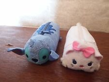 Disney Tsum Tsum Stitch Marie Aristocat pencil case soft plush toy figure bag