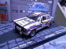 Ford Escort MKII RS rally vatanen 1000 lagos 1981 tabaco transformación based Ixo 1:43