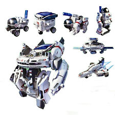 New 7 in 1 Rechargeable Education Solar Robot Space Fleet Toy Kid Christmas Gift