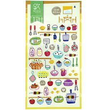 Kitchen Style Transparent Diary Deco Stickers Labels Scrapbook Journal