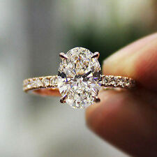 1.00 Ct Oval Brilliant Cut Natural Diamond Engagement Ring F,VS2 GIA 14K WG New!