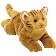 Suki Yomiko Classics Medium Plush Life Like Resting Ginger Orange Tabby Cat Gift