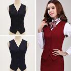 Women Waistcoat Outerwear Suit Vest Waiter Fit Casual Slim Button Vest Coats