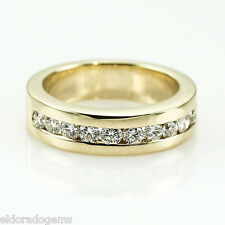 1.50 CT. VS1-F ROUND DIAMOND CHANNEL SET WEDDING BAND 18K YELLOW GOLD RING US6