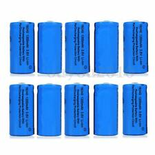 10PCS 1200mAh  3.6V 16340 CR123A Li-ion Rechargeable Battery For Flashlight Lamp