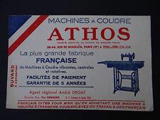 ANCIEN BUVARD MACHINE à COUDRE ATHOS Paris Degat Fontenay le Comte löscher