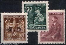 3 RARE NAZI OCCUPIED BOHEMIA-MORAVIA (CZECH) STAMPS w HITLER ORATING, SWASTIKAS!