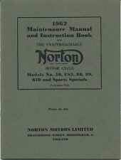 Norton 50 ES2 88 99 650 & Sports Specials Manual & Instruction Book 1962 No P106