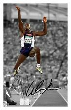 CARL LEWIS AUTOGRAPHED SIGNED A4 PP POSTER PHOTO