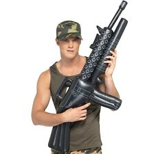 Army Fancy Dress Inflatable Machine Gun 112cm M16 Weapon New by Smiffys