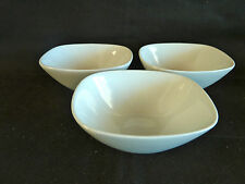 Pier 1   3 White Porcelain Bowls for Sauces Dips Etc.