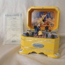 Disney Beauty & The Beast BELLE DANCE EVER AFTER Spin Figurine Musical Box-RARE