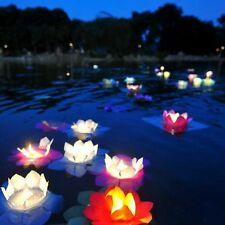 Paper Lotus Flower Floating Lantern Wishing Lamp for Wedding Party 10pcs