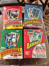 4 WAX BOX LOT TOPPS 1988 1989 1990 1991 UNOPENED BASEBALL CARDS 36 PACKS PER