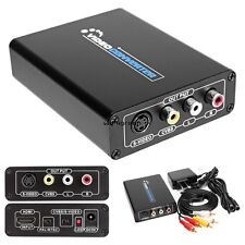 HDMI To 3RCA AV CVBS Composite S-Video R/L Audio Video Converter Adapter WN