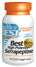 Best High Potency Serrapeptase (120,000 Units) - 90 Veggie Caps