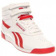 Reebok Classic Freestyle Hi White/Red Womens US size 7.5