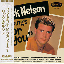 RICK NELSON-RICK NELSON SINGS FOR YOU-JAPAN MINI LP CD BONUS TRACK C94