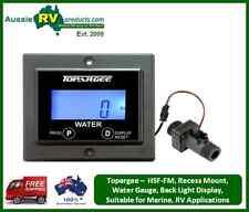 """Topargee H2Flow """"Recessed Mount"""" Water Tank Gauge, RV, Motorhome, Boat, Caravan,"""