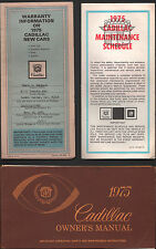 1975 CADILLAC Owner's Manual / Warranty Card / Maintenance Schedule 11-12-1974