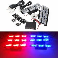 12V LED 6 Bars Red Blue Car Flashing Emergency Grille Recovery Strobe Light UK