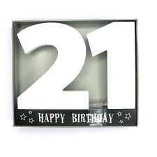 Age 21 Signature Block 21st Birthday Standing Wood Plaque You Sign Pen Included