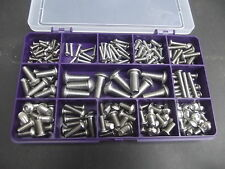 Box of 220 Assorted Socket Button Head Bolts. A2 Stainless. M3, M4, M5, M6 & M8