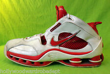 NIKE flight system shox 11.5 vtg red white leahter spring basketball 45.5 eu