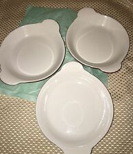 Set of 3 VINTAGE HALL Chocolate Au Gratin / Individual Quiche Dishes # 433