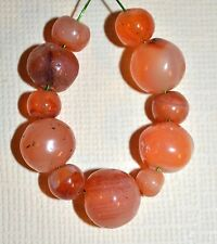 Set Of Excavated Antique Carnelian Agate Stone Beads From Mali, Africa