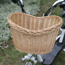 Willow Wicker Bicycle Basket Natural Color Uncovered For Pets Flowers Fruits