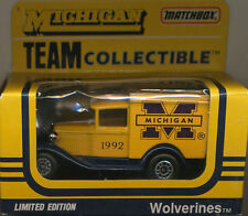 DIE-CAST 1991 MATCHBOX 1:64 SCALE UNIVERSITY OF MICHIGAN 1938 FORD DELIVERY VAN