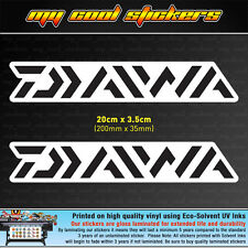 2 x Diawa 20cm Vinyl Sticker Decal, for Fishing Boat 4X4 Ute Car Tackle box Esky