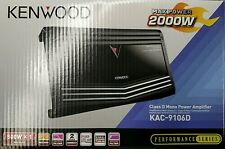 Kenwood KAC-9106D Class D 2000 Watts Mono Channel Car Amplifier