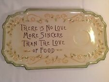 There is No Love More Sincere Than The Love of Food Serving Platter Amscan New
