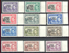 Tristan da Cunha KGVI 1952 definitive set of 12 SG1/12 MNH