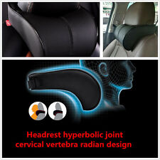 Ergonomic Black PU Leather Car Off-Road Seat Headrest  Neck Resting Cushion Mat