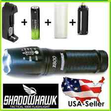 SHADOWHAWK X800 Tactical Flashlight LED Zoom Military Torch G700 Battery