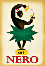 Café Nero Tea Coffee Drink Cafe Kitchen Pub Bar Chic Deco   Poster Print