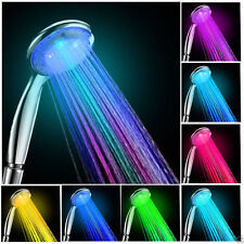 Handheld Romantic Automatic 7 Color LED Lights Handing Shower Head Bathroom UL